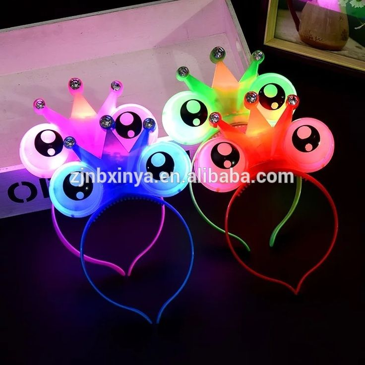 Halloween Eyes Hair Hoop Band Led Light Concert Headband Props