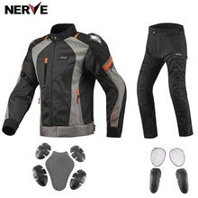 US $65.36 Brand NERVE Sping&Summer Motorcycle Riding Breathable Mesh Suit MOTO Protective Coat Jacket Pants Men & Women Motocross Clothing. Aliexpress product
