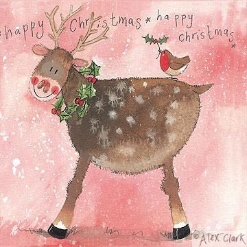 Alex Clark CHRISTMAS Pack Of 5 Cards: