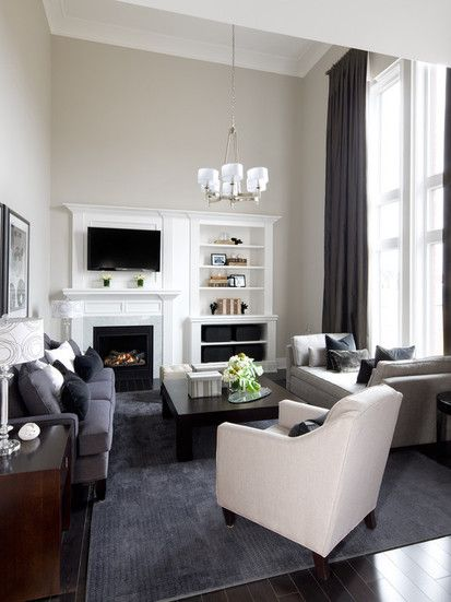 Jane Lockhart Interior Design, Contemporary Family Room, Toronto