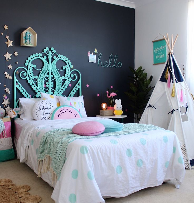Teepee ideas for kids - cool uses for tepees in a child's room.