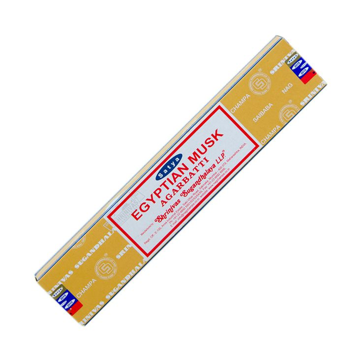 Satya Colored Nag Champa Incense 15 gr Egyptian Musk - pack of 12