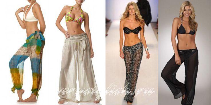 Удобные женские пляжные брюки