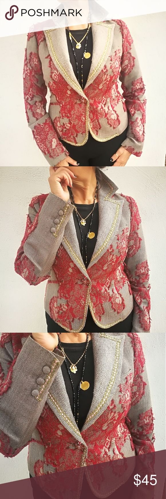 True meaning blazer Blazer with a vintage feeling, a lot of beatiful Details, 1 beautiful button, fully lined. True Meaning Jackets & Coats Blazers