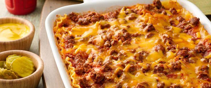 Cheeseburger Lasagna: Combine the fantastic flavors of lasagna and cheeseburgers in an ooey-gooey good casserole!