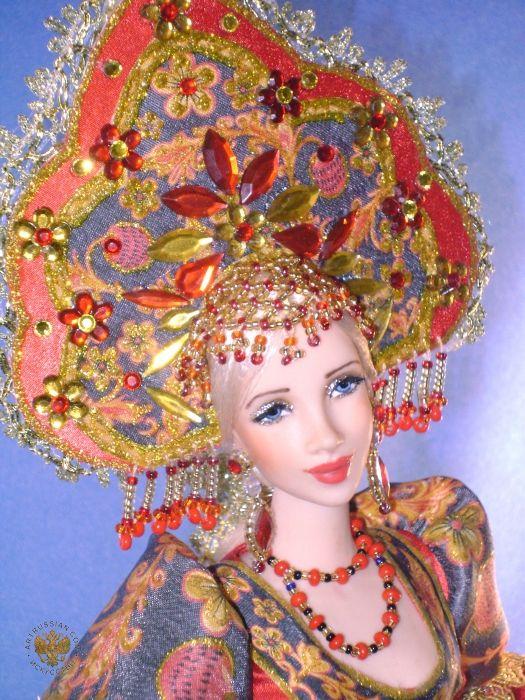 Исаева Лариса Анатольевна Пластиковые куклы Кукла Аленушка (хохлома) -Isaeva Larisa Plastic Doll Alenka