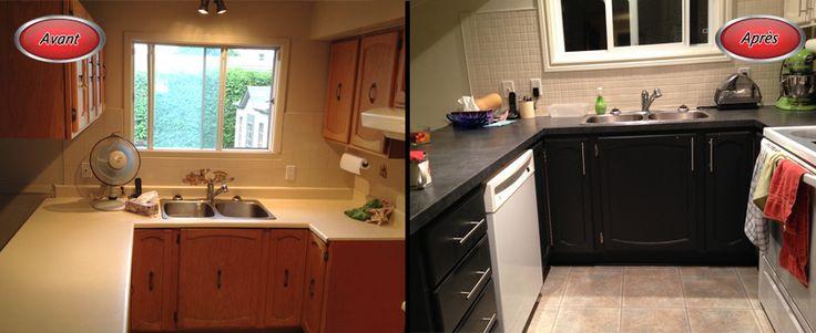 #kitchen renovation before and after // #rénovation cuisine avant et après
