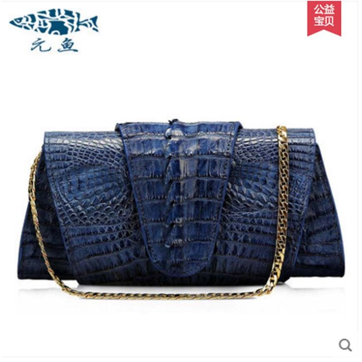 yuanyu 2017 new hot free shipping Import crocodile women chain bag fashion leather single shoulder bag small  dinner packages