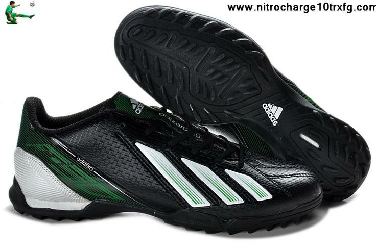 Wholesale Cheap adidas F10 TRX TF Football Boots Messi 7 - Black White Green Soccer Boots On Sale