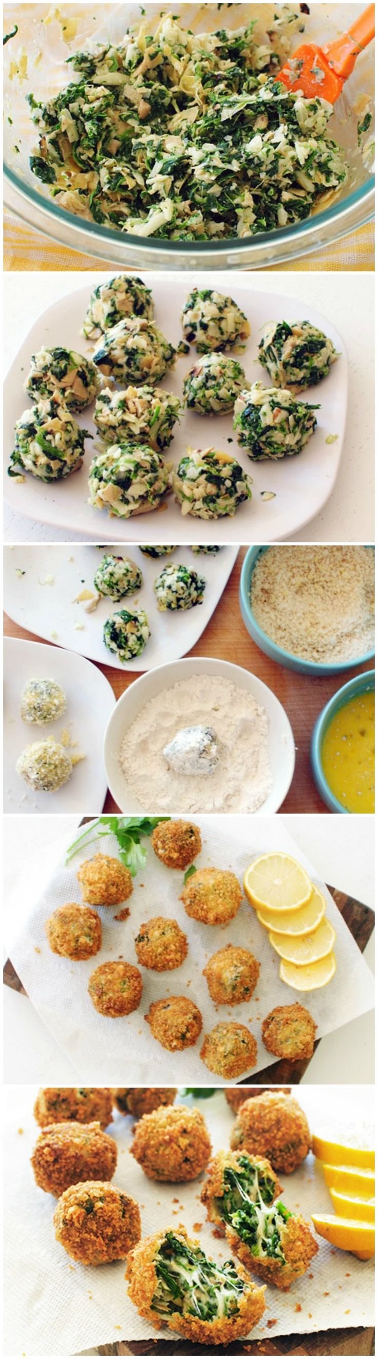 Fried Spinach & Artichoke Dip Balls