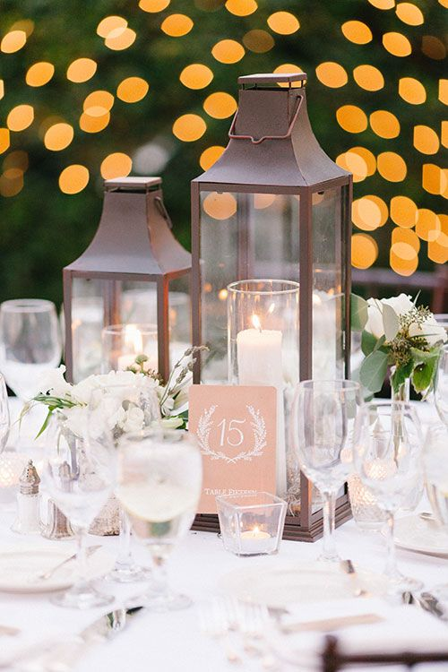 Lighted Lanterns Add Enviable Romance Brides