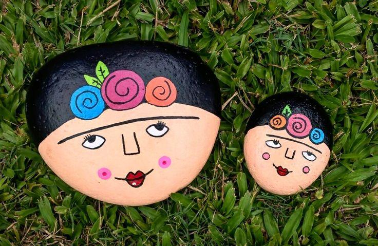 Frida Kahlo(piedras pintadas)