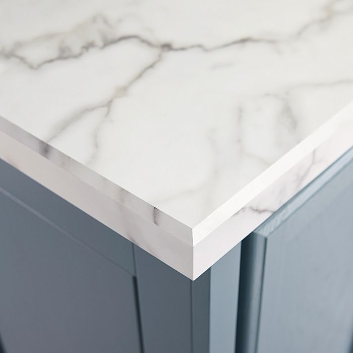 lowes kitchen countertops laminate white faucets get the look of a marble counter for less with ...