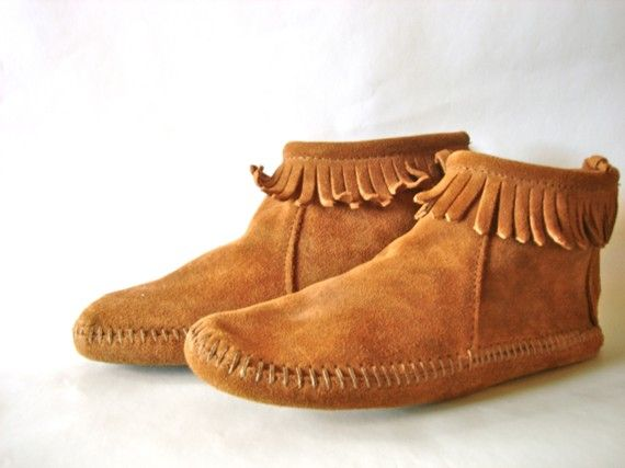 Boots           Vintage suede Moccasins ankle boots 5