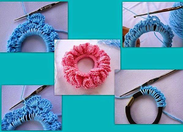 Anleitung für Zopfgummis  ----   Tutorial Crochet: Fermagli per capelli fai da te all'uncinetto - Tutorial