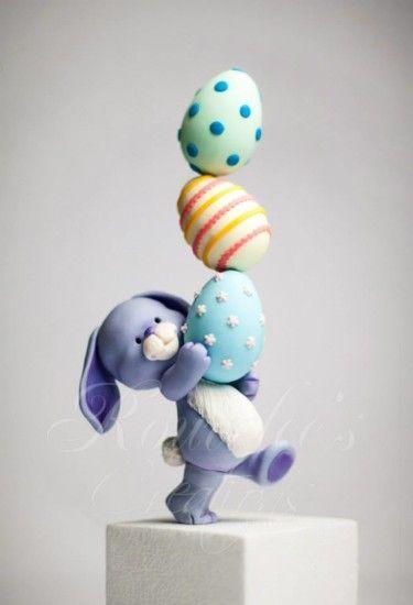 Пасхальный кролик из мастики