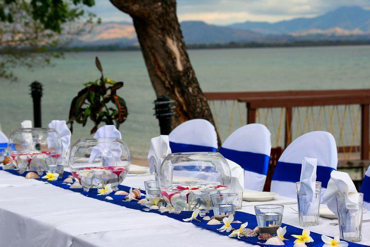 Wedding reception set up...