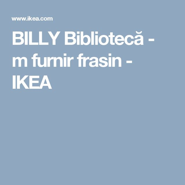 BILLY Bibliotecă - m furnir frasin  - IKEA