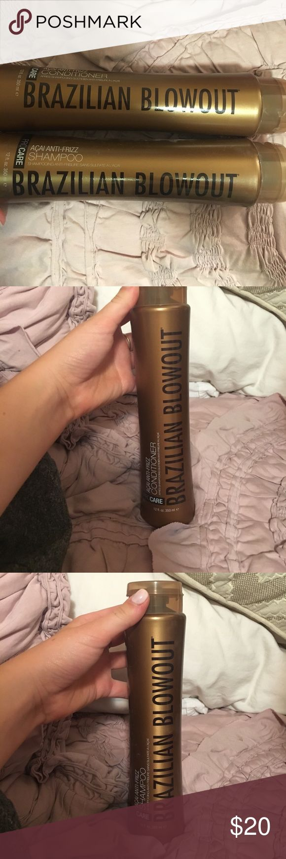 Brazilian Blowout Shampoo and Conditioner NWT Never been used Brazilian blowout shampoo and conditioner. Willing to negotiate price. Brazillian Blowout Other
