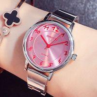 Gimto marca relogio feminino relógio de aço inoxidável relógio feminino senhoras moda casual relógio de pulso de quartzo das mulheres relógios
