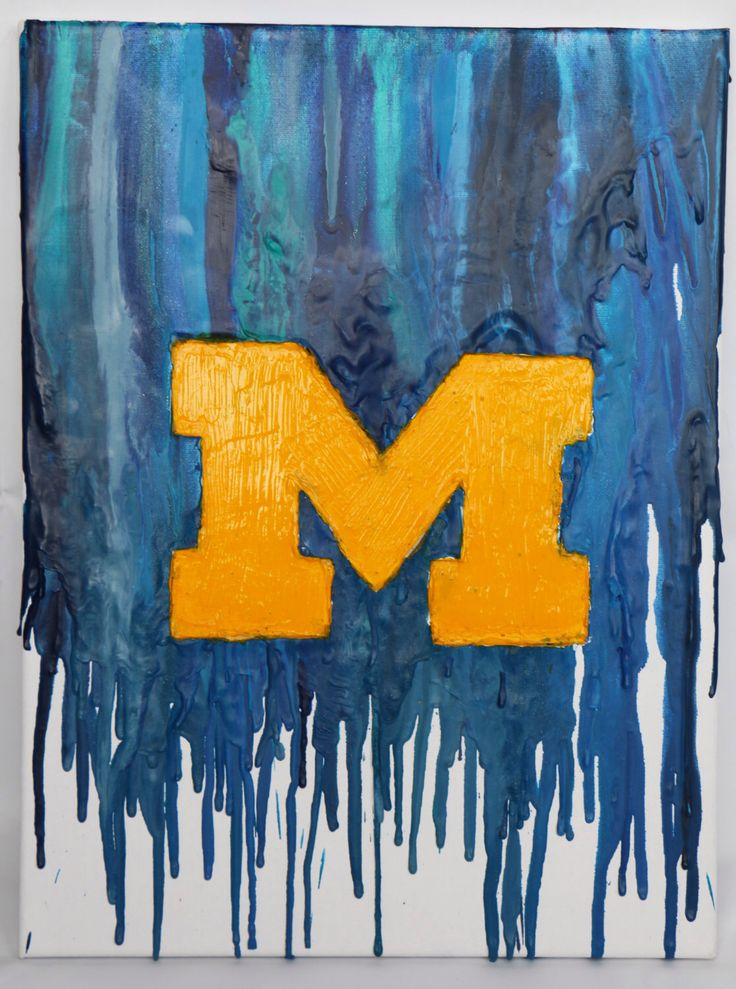 University of Michigan Crayon Art by YourMagicalMemories on Etsy https://www.etsy.com/listing/236147364/university-of-michigan-crayon-art