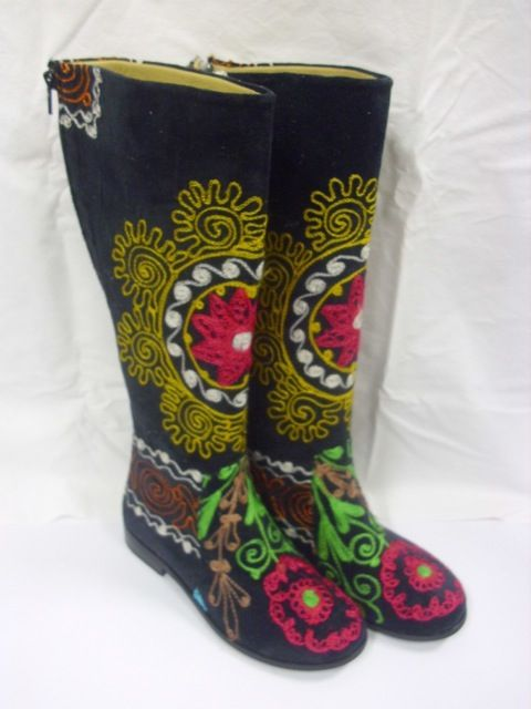 Embroidered Turkish boots to put a spring in your step
