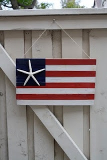 1x2 American flag with starfish star  monkeymommascraft...