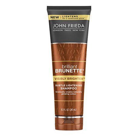 John Frieda Brilliant Brunette Visibly Brighter Subtle Lightening Shampoo, 8.3 Ounce, White