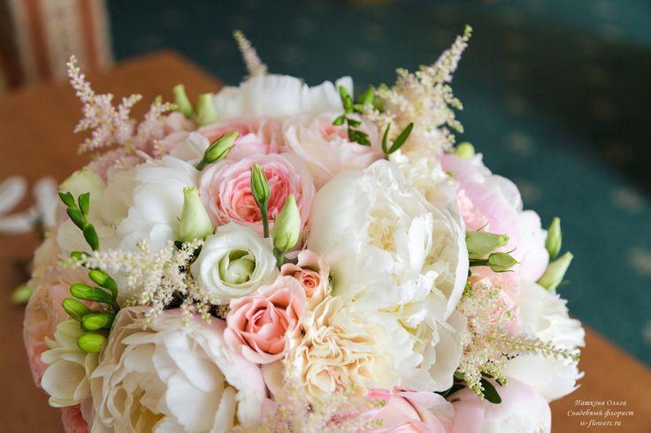 Букет невесты с пионами и гвоздикой #букет #невеста #пионы #свадебный