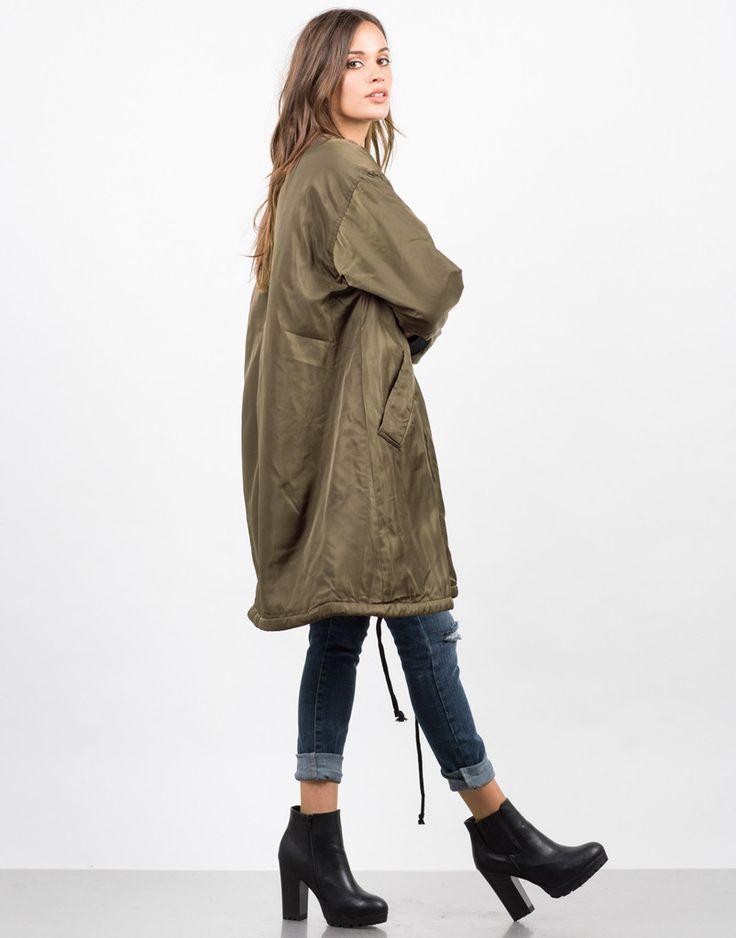 Long Bomber Jacket - Oversize Jacket - Womens Outerwear – Outerwear – 2020AVE