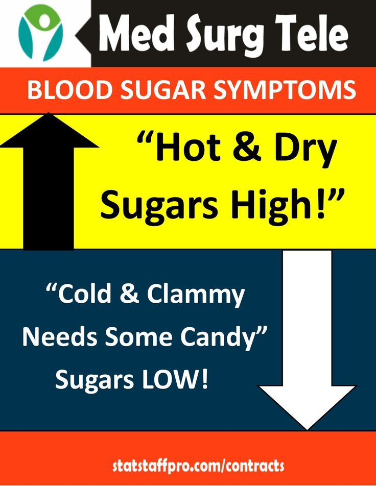 Check Your Blood Sugar! Hot and Dry  Sugars High- Cold & Clammy Needs some Candy! Hyperglycemia vs Hypoglycemia