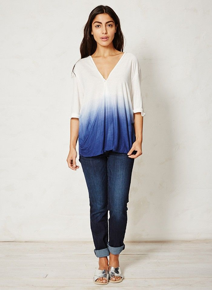 Dip dye top by Thought