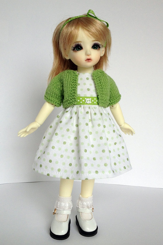 Green Dress Outfit for 1/6 Yosd BJD with by AdrianneInspired