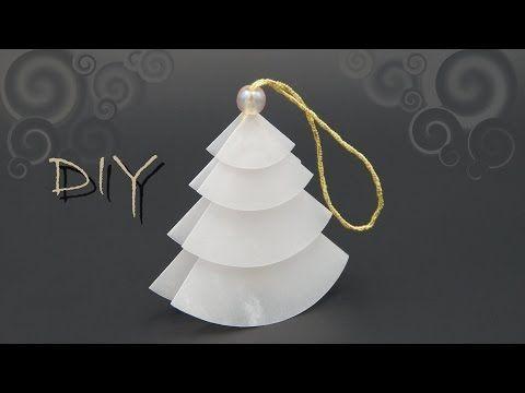 Christbaumschmuck basteln mit Papier zu Weihnachten - schöne Weihnachtsdeko selber basteln - YouTube