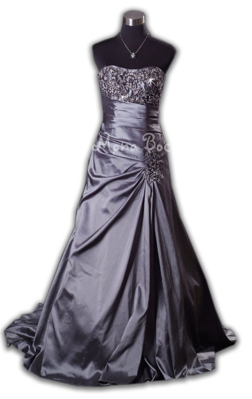 8 best images about platinum on pinterest satin shabby for Silver ball gown wedding dresses