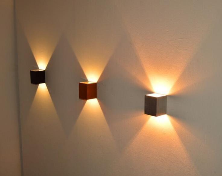 Modern Design Wall Llight LED wall lamp hall Porch Corridor lamp light Warm white Red Blue up-down LED Light