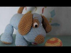 Puppy Dog Loomigurumi Amigurumi Part 1 Rainbow Loom Band Crochet Hook Only Max Secret Life Pets - YouTube