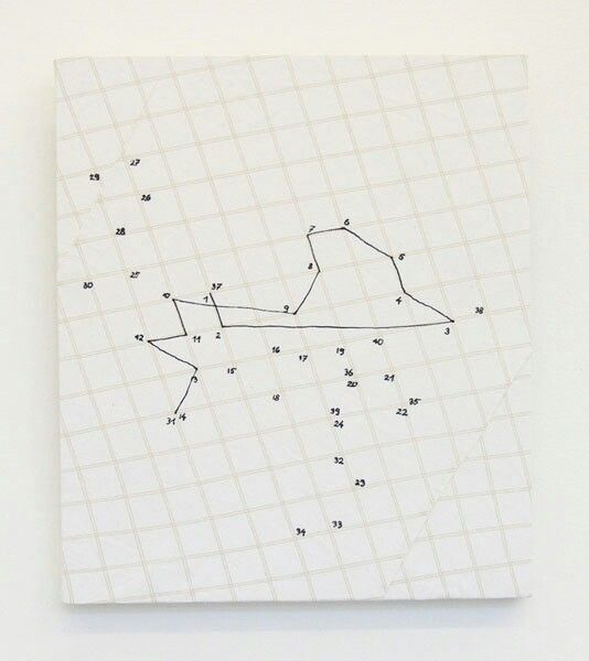 Marzena Nowak Untitled (with numbers), shirt tissue, pen, 30 x 26 cm