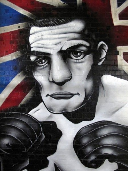 AeroArts painted a tribute to the late local boxing legend sir henry cooper @ Palmers Boxing gym in bellingham, south london.
