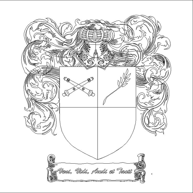 an coat of arms outline example found via Google search ...