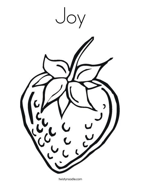 strawberry coloring page twisty noodle - Fruit Spirit Coloring Page