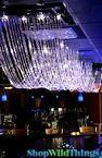 Diamonds LED Ceiling Drape & Canopy - High Gloss Finish - 15 Feet Long
