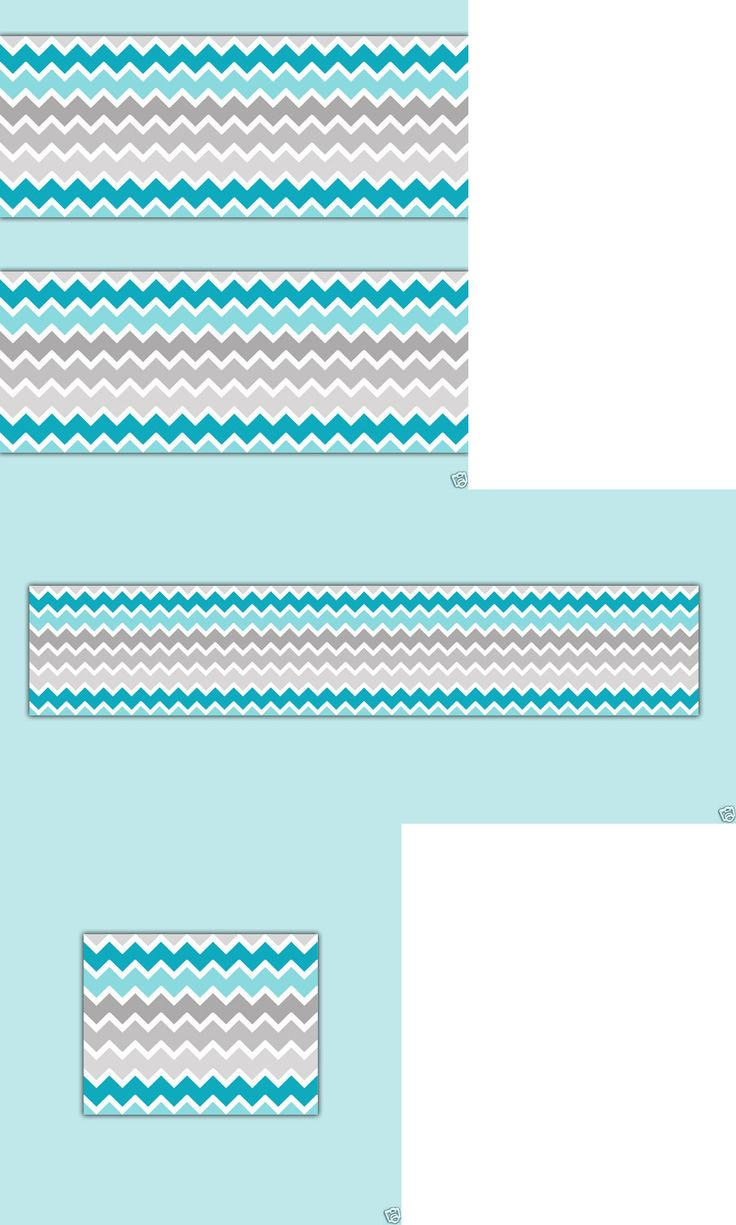 Wallpaper Borders 37636 Turquoise Teal Blue Grey Gray