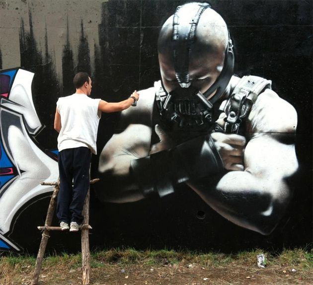 The Graffiti Writer Scaf Paints This Impressive Bane Character From
