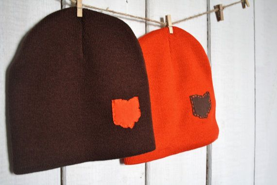Cleveland Ohio Love Beanie State of OHIO one size by twinzzshop
