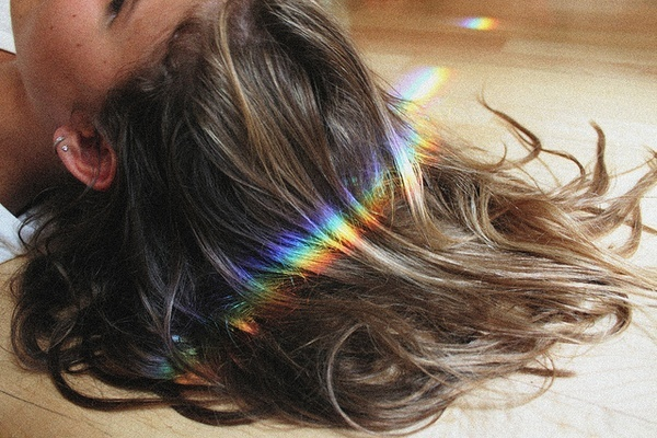#wonderfulFavorite Hair, Rainbows Hair, Hair Colors, Hairstyles Clothing, Rainbows Lady, Awesome Reflections, Subtle Highlights, Nature Colors, Favorite Pin