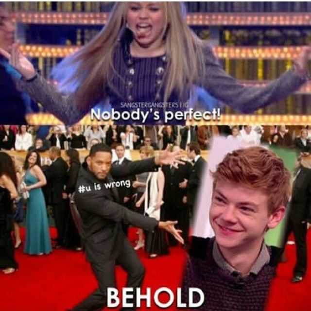 """""""And the award to most perfect human in the universe goes to...drumroll please...THOMAS SANGSTER!!"""""""