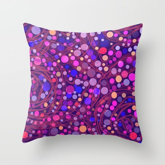 Bright polka dot(8) Throw Pillow by Mary Berg. Worldwide shipping available at Society6.com. Just one of millions of high quality products available.
