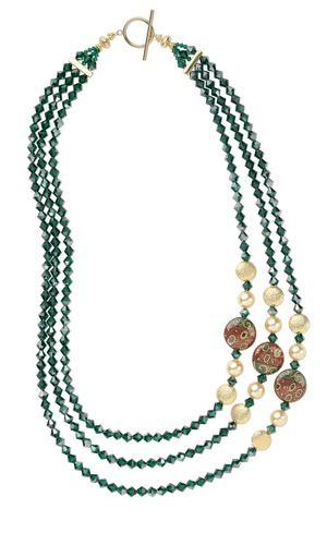 Jewelry Design – Triple-Strand Necklace with Swaro…