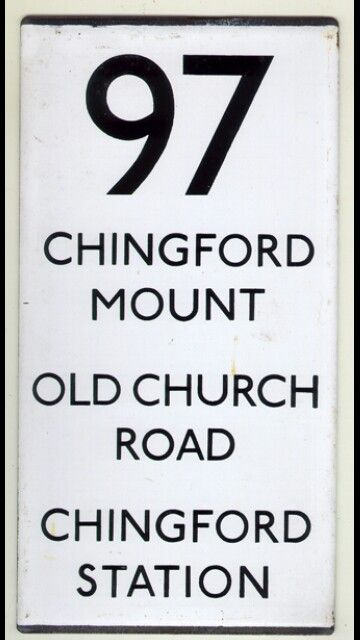 97 bus sign Chingford